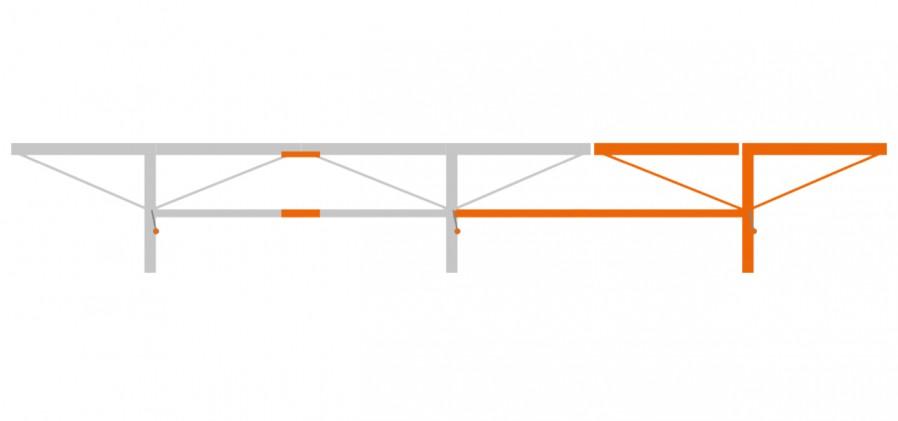 Verlängerung 2.0 m mit 1x extra Stammauflage
