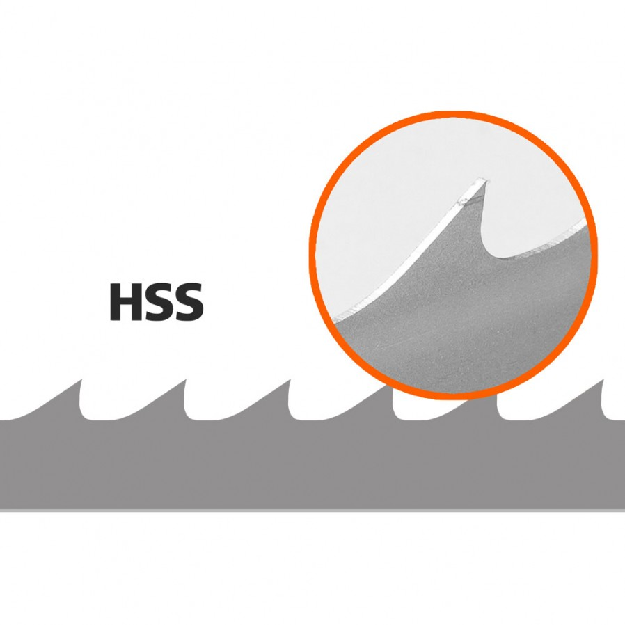 (BACHO) 5 Stk. Sägebänder für HD36, L:4246 mm, W: 34 mm