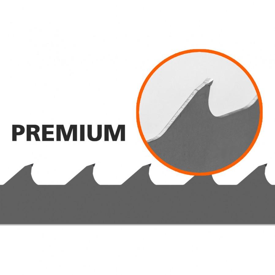 1 Stk. Sägebänder (Premium, Hartmetall) für B751 L:3843 mm W:34 mm