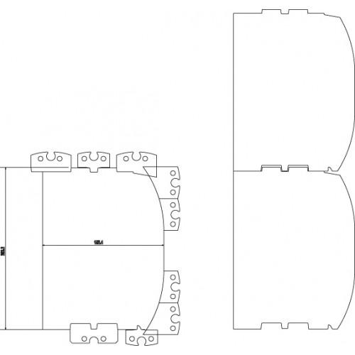 Blockhaus-Profilmesser-Set, D-log 6-8'' (150-200 mm), inkl. Keile