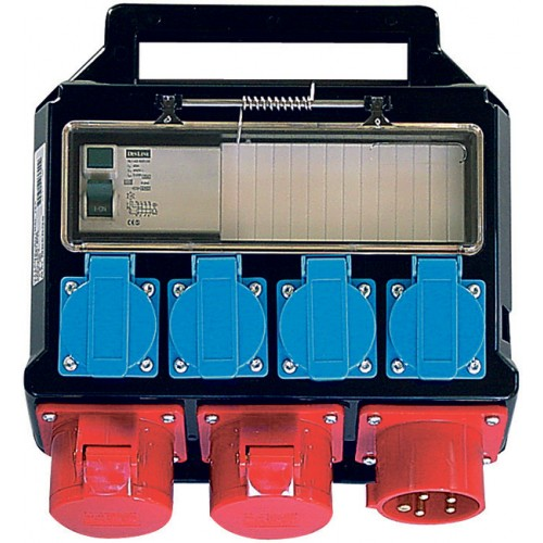 Stromverteiler, 2 x 400V/16A, 4 x 230V/16A