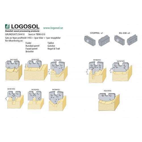 Starterpaket mit Profilmesser  und Keile für SH410